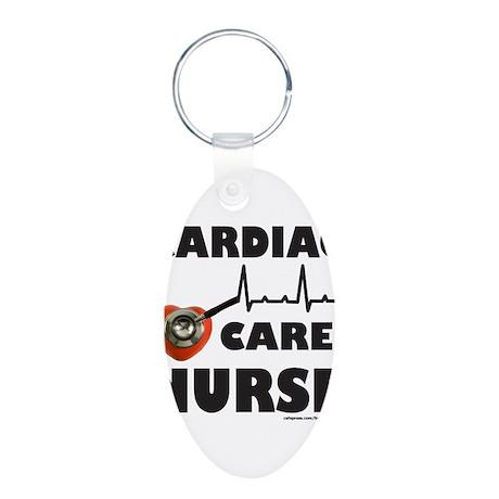 CARDIAC CARE NURSE Aluminum Oval Keychain