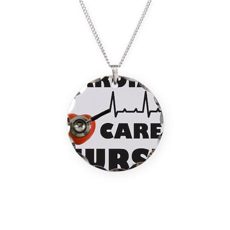 CARDIAC CARE NURSE Necklace Circle Charm