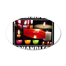 CANDLE MAKER/CANDLE MAKING 22x14 Oval Wall Peel