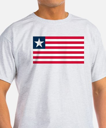 Liberian Flag Ash Grey T-Shirt