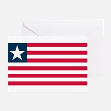Liberian Flag Greeting Cards (Pk of 10)