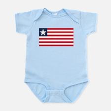 Liberian Flag Infant Creeper