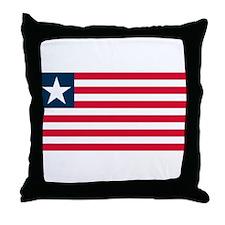 Liberian Flag Throw Pillow