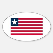 Liberian Flag Oval Decal