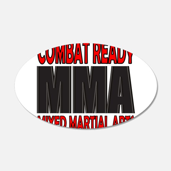 COMBAT READY MMA 22x14 Oval Wall Peel