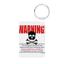 WARNING MMA Aluminum Photo Keychain