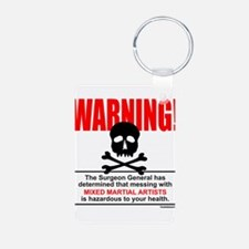 WARNING MMA Keychains