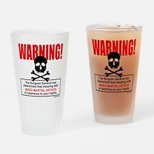 WARNING MMA Drinking Glass