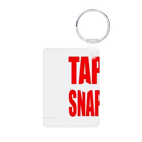 TAP OR SNAP Aluminum Photo Keychain