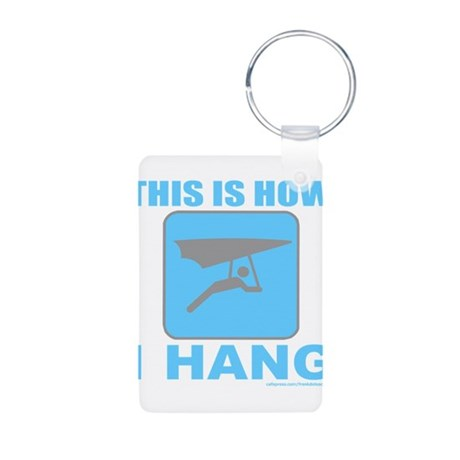 HANG GLIDER/GLIDING Aluminum Photo Keychain