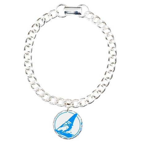 BORN TO WINDSURF Charm Bracelet, One Charm