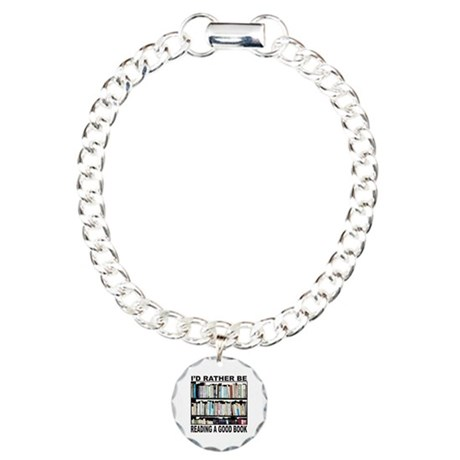 BOOK LOVER Charm Bracelet, One Charm
