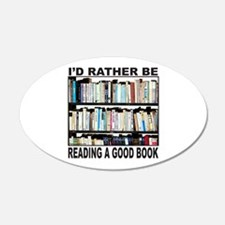 BOOK LOVER 22x14 Oval Wall Peel