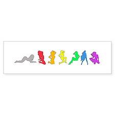 Rainbow Girls Bumper Bumper Bumper Sticker