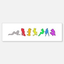 Rainbow Girls Bumper Bumper Bumper Sticker