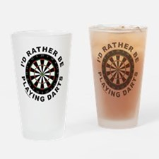 DARTBOARD/DARTS Drinking Glass