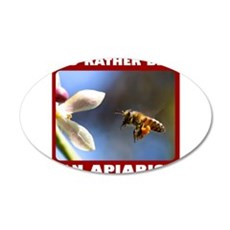 BEEKEEPER/APIARIST 22x14 Oval Wall Peel