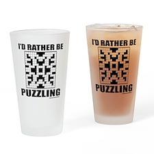 CROSSWORD Drinking Glass