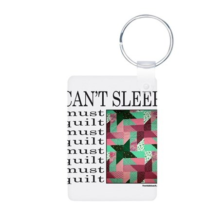 QUILT/QUILTING Aluminum Photo Keychain