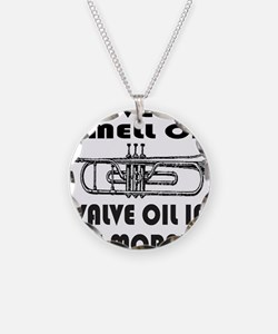 TRUMPET PLAYER Necklace Circle Charm