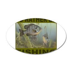 FISHING/FISHERMEN 22x14 Oval Wall Peel