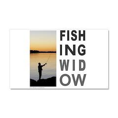 FISHING WIDOW Car Magnet 20 x 12