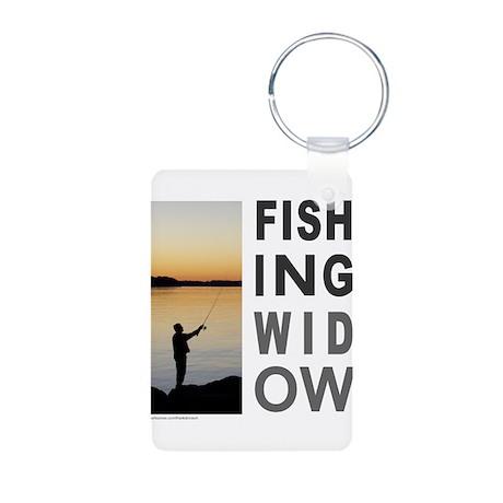 FISHING WIDOW Aluminum Photo Keychain