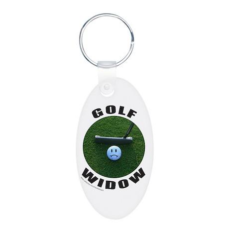 GOLF WIDOW Aluminum Oval Keychain