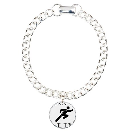 BORN TO RUN Charm Bracelet, One Charm