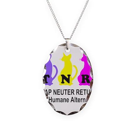 TRAP NEUTER RETURN Necklace Oval Charm