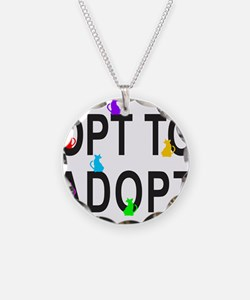 OPT TO ADOPT A CAT Necklace