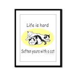 LIFE IS HARD Framed Panel Print