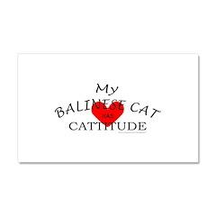 BALINESE CAT Car Magnet 20 x 12