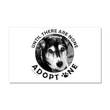 DOG ADOPTION Car Magnet 20 x 12