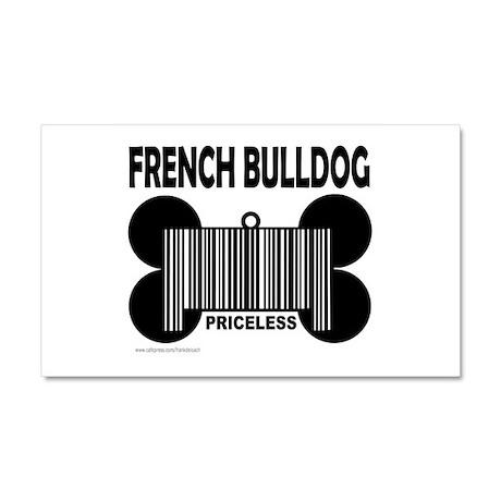 FRENCH BULLDOG PRICELESS Car Magnet 20 x 12