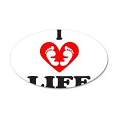 PRO-LIFE/RIGHT TO LIFE 22x14 Oval Wall Peel