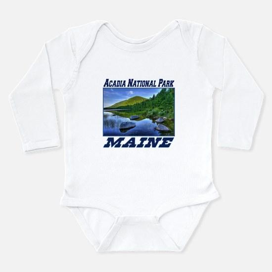Acadia National Park, Maine Long Sleeve Infant Bod