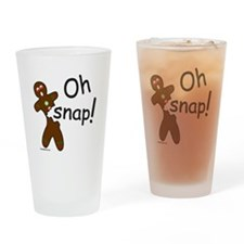 GINGERBREAD MAN OH SNAP Drinking Glass