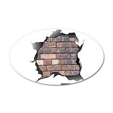 BRICK WALL 22x14 Oval Wall Peel