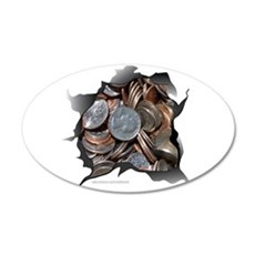 COINS 22x14 Oval Wall Peel
