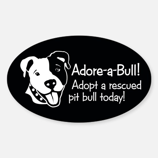 Adore-A-Bull 2! Oval Decal
