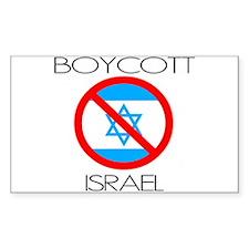 Boycott Israel Rectangle Decal