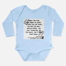 Dryden Happy Quote Long Sleeve Infant Bodysuit