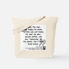 Dryden Happy Quote Tote Bag