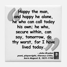 Dryden Happy Quote Tile Coaster