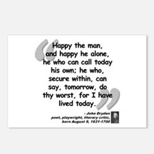 Dryden Happy Quote Postcards (Package of 8)