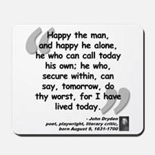 Dryden Happy Quote Mousepad