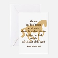 glory of god bach horse Greeting Cards