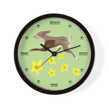 Running Bunny Wall Clock