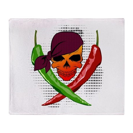 Pepper Pirate Throw Blanket
